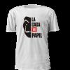 Tshirt estampada com design alusivo à serie La Casa de Papel