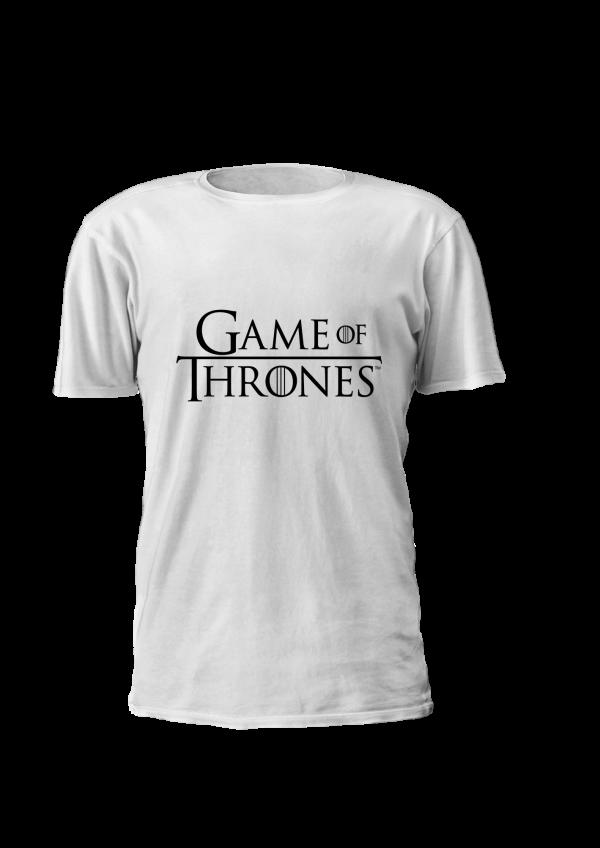 T-shirt estampada personalizada com logo game of thrones