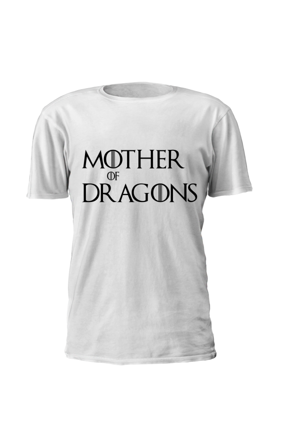 T-shirt estampada personalizada Game of Thrones Mother of Dragons