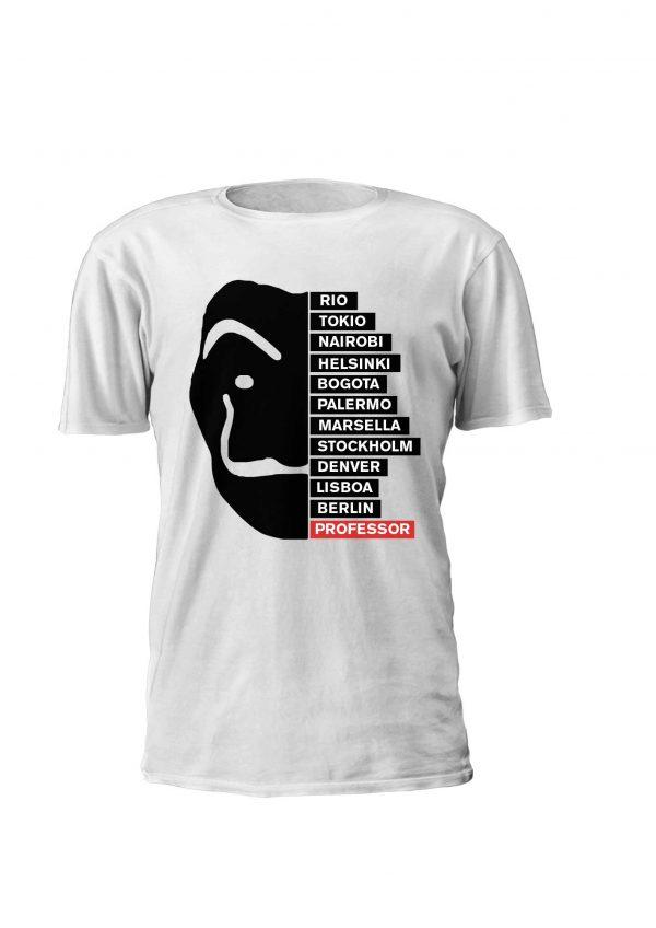 T-shirt personalizada la casa de papel temporada 3 personagens
