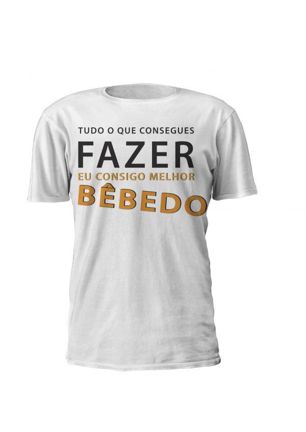 Eu consigo Fazer Melhor BêbedoT-shirt personalizada Homem e Mulher, Design Tudo o que tu consegues fazer eu Consigo Melhor Bêbedo