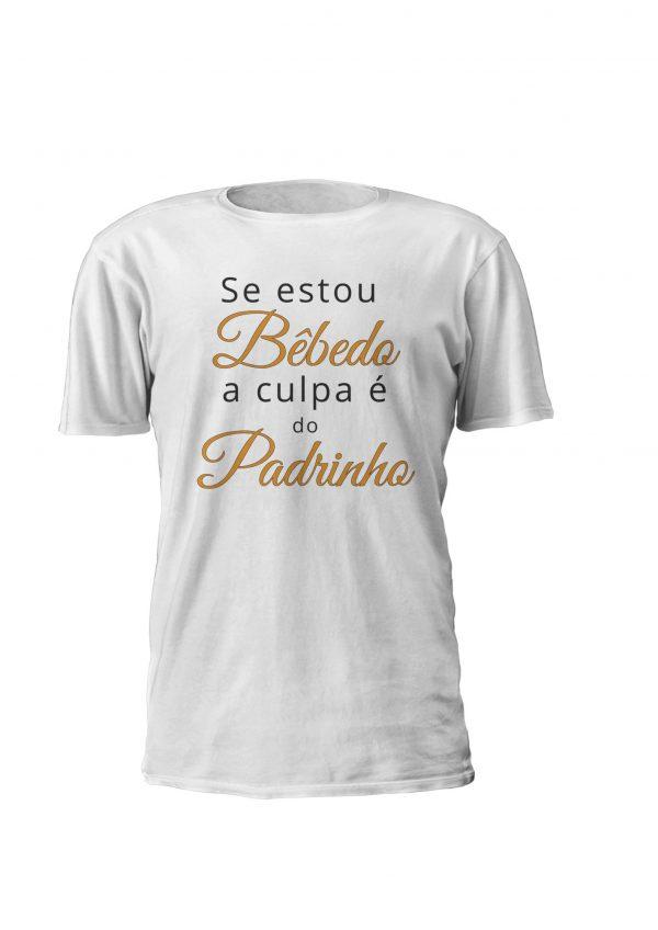 T-shirt personalizada Se estou bêbedo a culpa é do padrinho, para homem e mulher personalizável