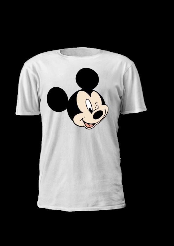 T-shirt para criança com cabeça de Mickey, Disney