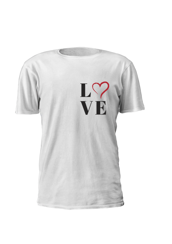 T-shirt de mulher personalizada Love