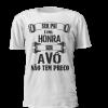 """T-shirt personalizada para os avós babados """" ser pai é uma honra, ser avô não tem preço"""""""
