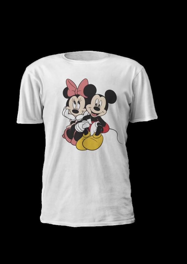 T-shirt personalizada tema disney, Mickey e Minnie. Disponível em tamanho de criança e adulto. em várias cores. T-shirt personalizada Mickey e Minnie