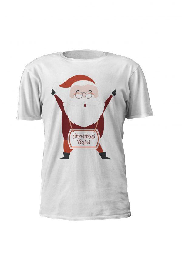Christmas Rules! T-shirt de criança personalizada com tema de natal! Também disponivel em sweatshirt