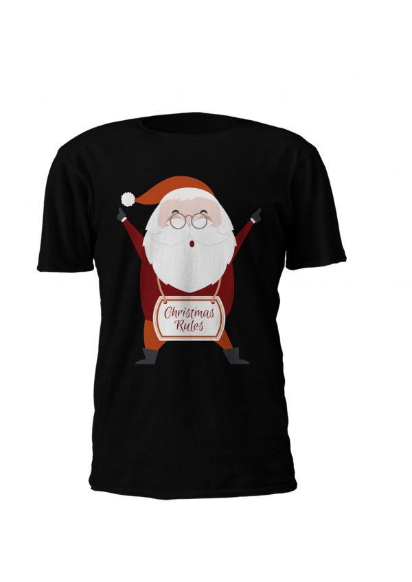T-shirt personalizada para criança com tema alusivo ao natal! Christmas Rules!