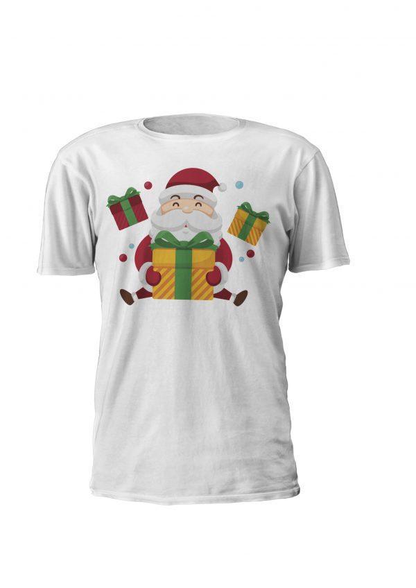 Sweatshirt ou t-shirt personalizada de natal!Pai Natal Com Presentes