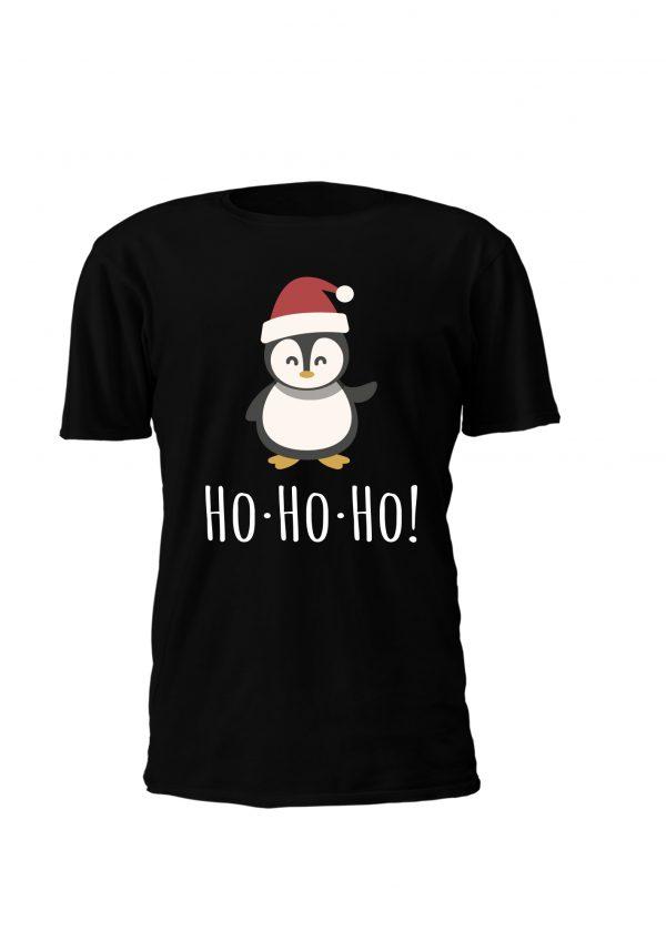 T-Shirt personalizada de Natal para criança com pinguim fofinho! Oh oh oh! Agarra já a tua!